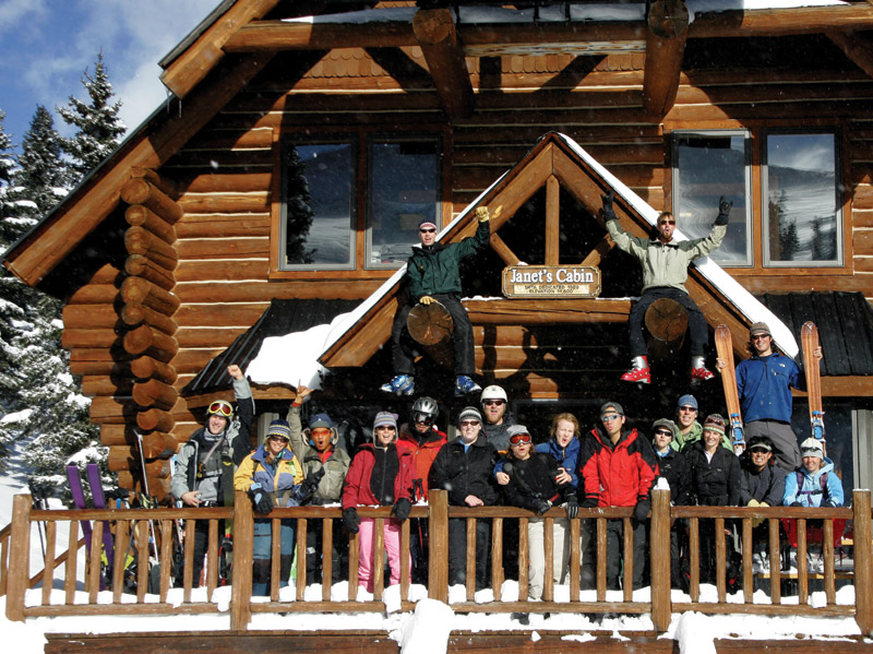 The Front Range Powder Factory on their annual New Year's backcountry hut trip.